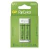 Kép 1/2 - GP Eco E211 USB töltő + 2db AA 2000mAh Recyko akku