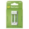 Kép 1/2 - GP Eco E211 USB töltő + 2db AAA 800mAh Recyko akku