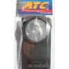 Kép 2/2 - Lámpa 312PH lapos műanyag lámpa kerek üveggel 1x3R12