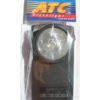 Kép 2/2 - ATC 312PH lapos műanyag lámpa kerek üveggel, kripton izzóval 1x3R12