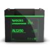 Kép 1/5 - Voltas 12,8V 50Ah LiFePO4 lítium vasfoszfát zárt akkumulátor 194*164*170