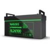 Kép 3/3 - Voltas 25,6V 100Ah LiFePO4 lítium vasfoszfát zárt akkumulátor 480*170*240