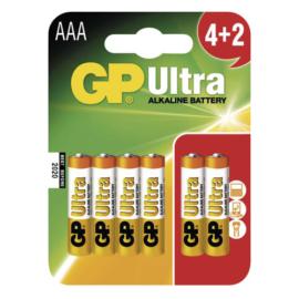 LR03 GP24AU-C4+2 Ultra alkáli mikró elem bliszteres