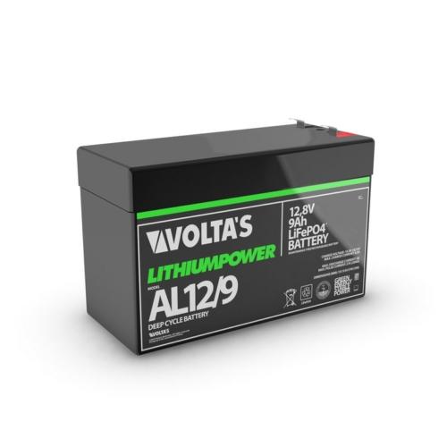 Voltas 12,8V 9Ah LiFePO4 lítium-vasfoszfát zárt akkumulátor 151*65*95