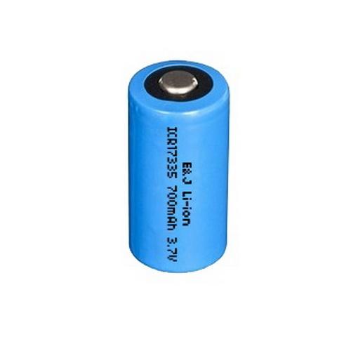 123A méretű 3,7V 600mAh Li-ion akkumulátor 16,8*34,5mm