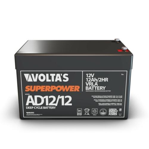 12V 12Ah e-kerékpár akkumulátor  151*98*94 mm zselés