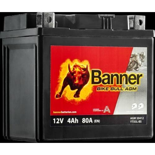 12V 4Ah Banner YTX5BL-BS motor akkumulátor(114*71*106mm)