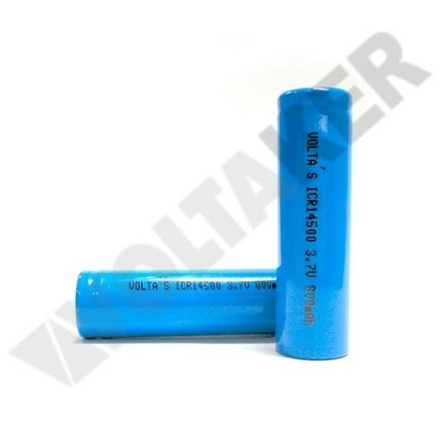 14500 Li-Ion 3,7V 630mAh nagyáramú akku AA 14,5*49,5mm