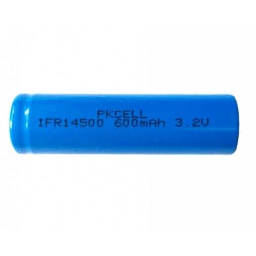 14500 LiFePO4 3,2V 600mAh akku AA méret 14,5*49,5mm