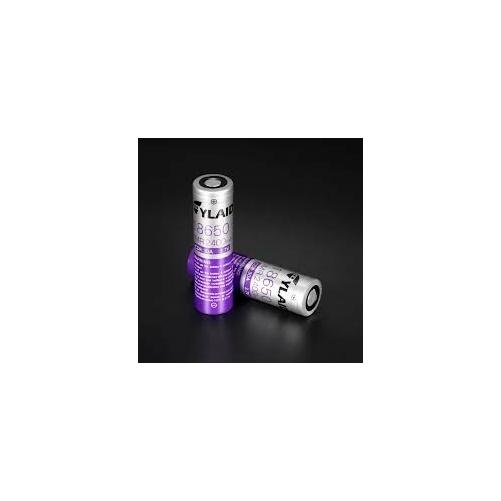 18650 Cylaid 3,7V Li-ion 2400mAh 30A (lila-ezüst)