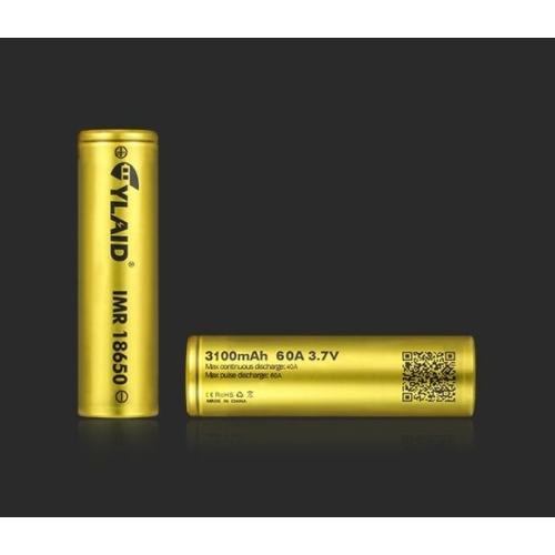 18650 Cylaid 3,7V Li-ion 3100mAh 60A akkumulátor (arany)