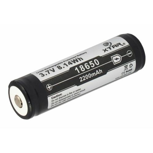 18650 Xtar Li-ion 3,6V 2200mAh akkumulátor védő elektronikával