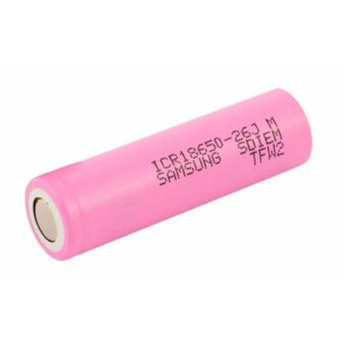 18650-26J M Samsung Li-ion 2600mAh cella 18,3*65,5mm