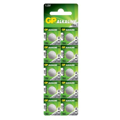 186A/AG12/LR43/L1142 GP alkáli gombelem bliszteres