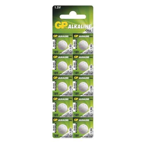 189A/AG10/LR54/L1131 GP alkáli gombelem bliszteres