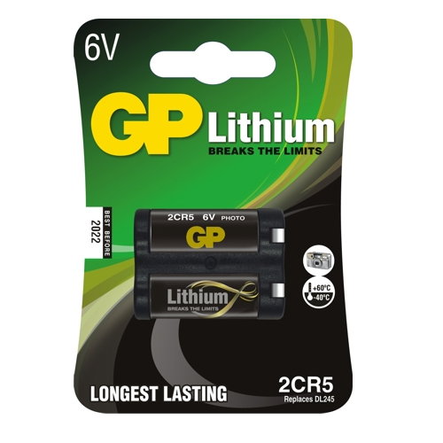 2CR5-C1 GP lítium fotó elem 6V bliszteres 34*17*45mm