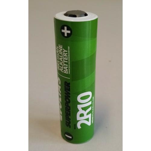 2R10 méretű 3V Volta's alkáli elem