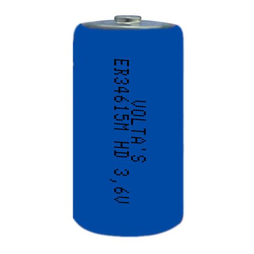 3.6V lítium D góliát elem 14500mAh ER34615M, nagyáramú