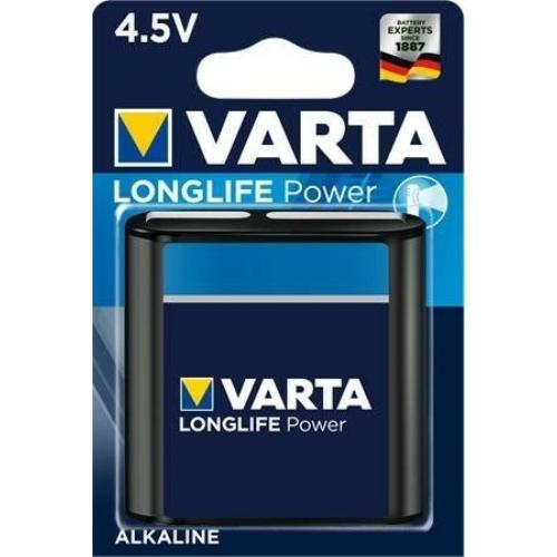 3LR12 Varta Longlife alkáli lapos elem 4912 4,5V bliszteres