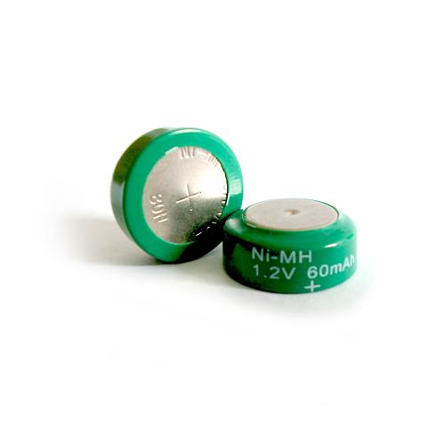 60BVH Voltas gombcella 60mAh Ni-Mh 15,6*6,3mm