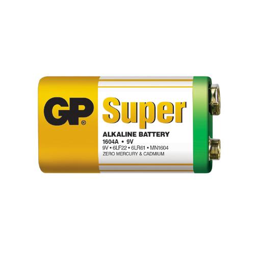 6LR61 GP1604A-S1 Super alkáli 9V elem fóliás