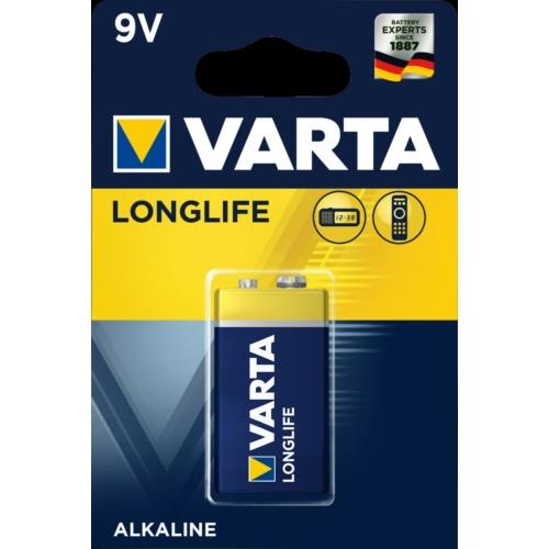 6LR61 Varta Longlife alkáli elem 9V 565mAh bliszteres