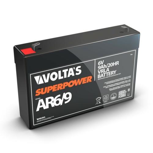 6V 9Ah zárt savas ólom akkumulátor 151*49*98 F2-es csatlakozóval