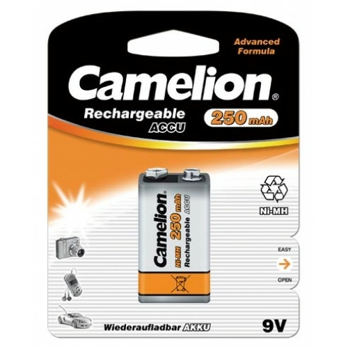 Tölthető akku 9V 250mAh Camelion 8,4 V akku Ni-Mh
