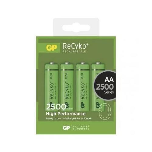 AA 2450mAh GP250AAHCB-C4 Recyko ceruza akku bliszteres
