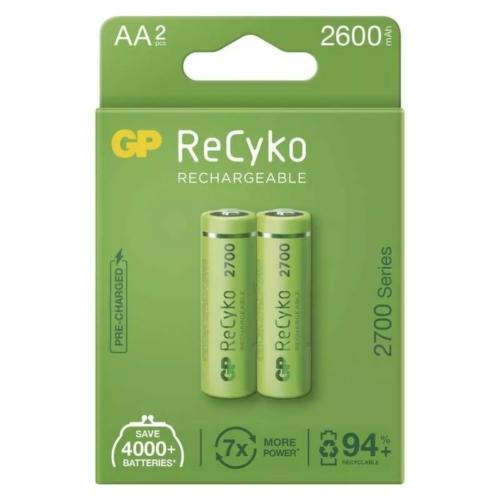 AA 2600mAh GP270AAHCBE-2EB2 Recyko ceruza akku papírdobozos Ni-Mh