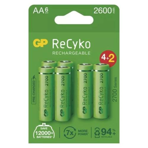 AA 2600mAh GP270AAHCE4/2-2EB6 Recyko ceruza akku papírdobozos