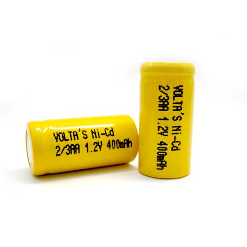 AA2/3 40AAK Voltas akku 400mAh Ni-Cd 14,5*28,7mm