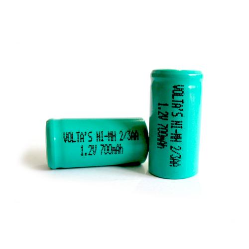 AA2/3 70AAHV Voltas akku 700mAh Ni-Mh 14,5*28,5mm