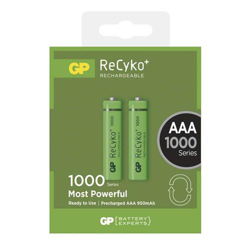 AAA 1000mAh GP100AAAHCB-C2 Recyko mikro akku bliszteres