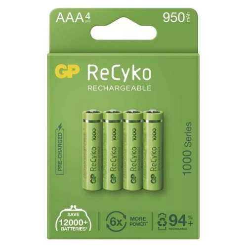 AAA 1000mAh GP100AAAHCE-2EB4 Recyko mikro akku papírdobozos Ni-Mh