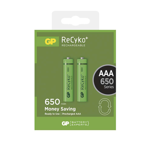 AAA 650mAh GP65AAAHCB-C2 Recyko mikro akku bliszteres