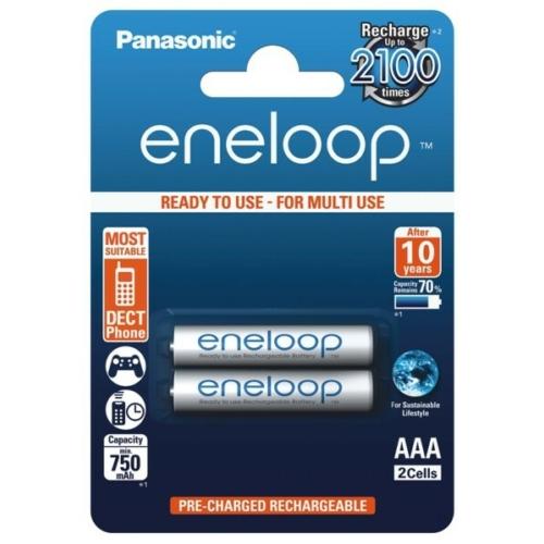 AAA 750mAh Panasonic Eneloop mikro akku Ni-Mh C2
