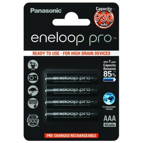 AAA 930mAh Panasonic Eneloop PRO mikro akku Ni-Mh