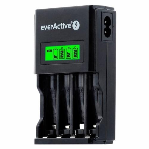 EverActive NC-450 Ni-Mh 4 csatornás AA/AAA  akkumulátor töltő