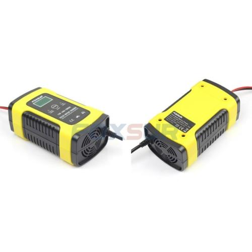 Akkumulátor töltő Foxsur 12V 5A LCD kijelzővel, regeneráló funkcióval