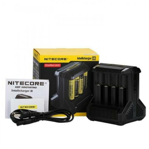 Nitecore I8 Intelligens Li-ion/Ni-Mh/Ni-Cd 8 csatornás akkumulátor töltő