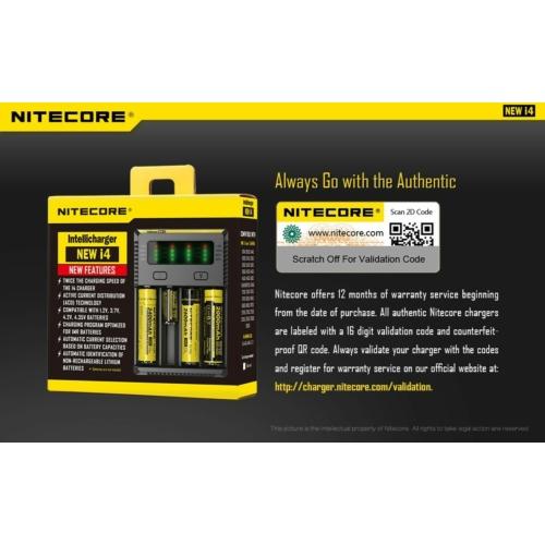 Akkumulátor töltő Nitecore I4 Intelligens Li-ion/Ni-Mh/Ni-Cd 4 csatornás