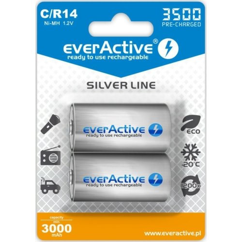 C 3500 EverActive baby akku Ni-Mh min. kapacitása 3000 mAh