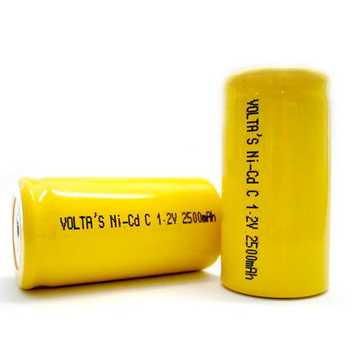 C Voltas 250CKT akku 2500mAh Ni-Cd 25,8*50mm