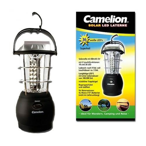 Camelion 36 ledes tölthető solar kempinglámpa 1800mAh lítium akkuval
