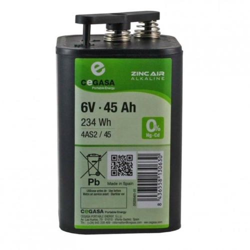 Cegasa 6V 45AH levegő-alkáli elem