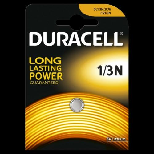 CR1/3N-C1 Duracell lítium fotó elem 3V tálcás kiszerelésben