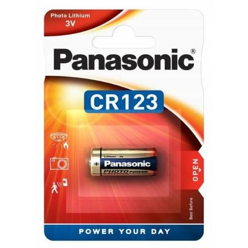 CR123-C1 Panasonic lítium fotó elem 3V bliszteres 16,8*34,5mm