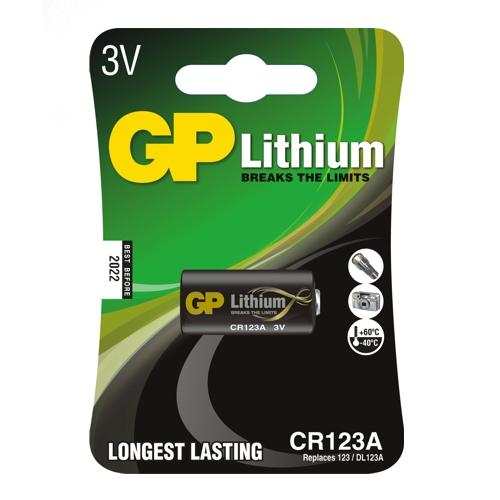 CR123A-C1 GP lítium Pro fotó elem 3V bliszteres 16.8*34.5mm