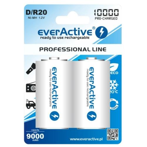 D 10000mAh EverActive góliát akkumulátor Ni-Mh
